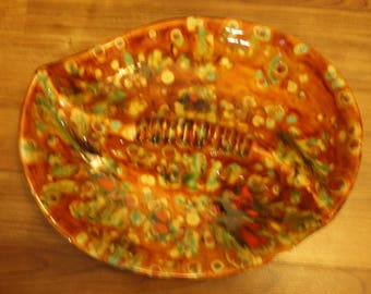 True Vintage Mid Century Ash Tray From The 1970's