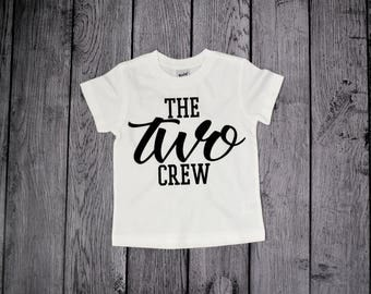 Two Birthday shirt for boy, 2nd Birthday, The TWO Crew, 2 Birthday shirt, Im Two Shirt, 2nd birthday, boys birthday shirt, Im this many