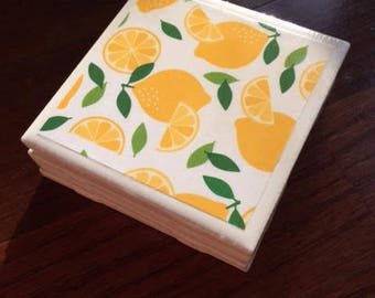 Freshly Squeezed Tile Coasters (set of 4)