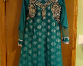 Vintage 1980's Bollywood Style Indian Dress Costume