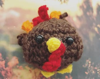 Turkey, Thanksgiving, autumn, harvest, presentidea, amigurumi, crochet, plushie, animals, bird, nature, forest, feast, crocheted animal