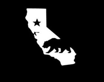 California state bear vinyl decal