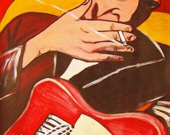 Joe Strummer The Clash Print Poster