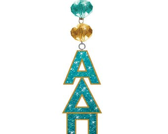 ADP Logo Bling - Alpha Delta Pi Sorority MAGNETIC ORNAMENT/Adp Decor/Adp Ornament/Alpha Delta Pi Dorm Room Decor