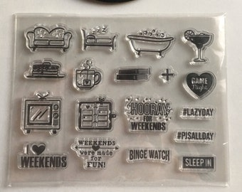 Planner Stamps, Daily Life Planner Stamps, Clear Stamps for Planner, Everyday Planner Stamps, Lifestyle Stamps.