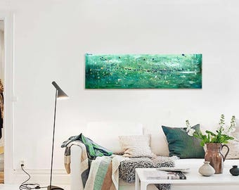 Abstract painting contemporary art - Seascape turquoise