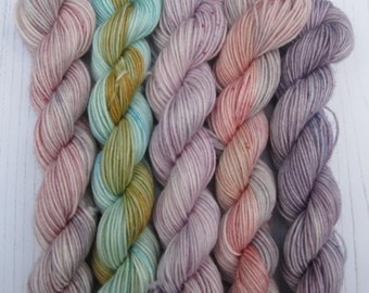 """4 Ply Sock Yarn.Hand Dyed.Inspired By """"Miss Marple""""."""