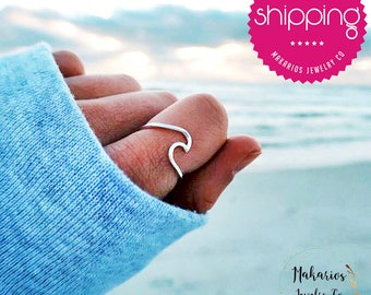 Ocean wave ring.silver wave ring.silver wave jewelry.surfer ring.sterling wave ring.surfers ring.Ocean Wave Jewelry.wave ring (Wave Ring)