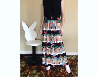 70s sleeveless maxi dress