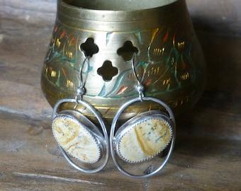 Sterling silver and Jasper earrings