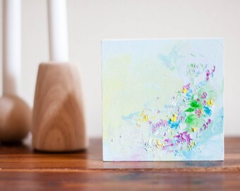 Abstract 5 x 5 Oil Painting // Spring Mini No. 3