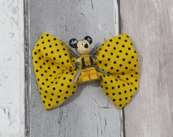 MiniFigure Marvel Wolverine Mickey Mouse Lego Dog Bow Tie, Dog clothing, Doggy Bow Tie, Puppy Bow Tie, Detachable Bow Tie, Slip on bow tie