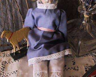 Vintage 8 inch high china-head doll