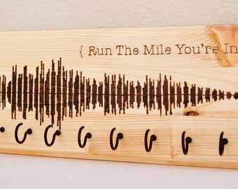 """Race medal holder, """"Run The Mile You're In"""""""