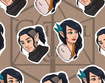 Vax & Vex Laminated Keychain - Critical Role