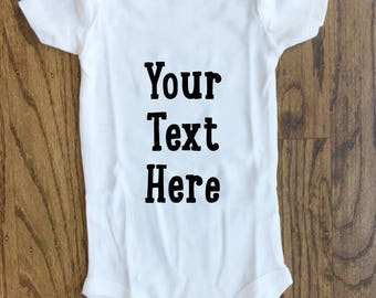 Personalized baby bodysuit | custom baby clothes | personalized baby gift