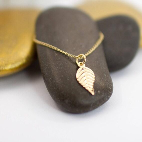 LEAF Gold filled necklace