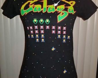 Galaga T-Shirt Vintage Arcade Game Shirt - Women's Small