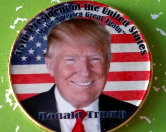USA President Donald Trump Colorized Art Coin