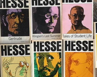 Lot of 7 Hermann Hesse Books (Noonday, 1972-1976) Gertrude, Tales of Student Life