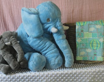 Teal Elephant Balloon Brup Rag