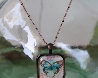 butterfly necklace, gift for girl, gift for daughter, mother, birthday, friend
