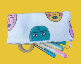 Femme Faces Pencil Case / Makeup Bag