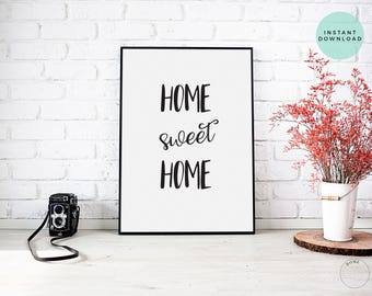 Home Sweet Home | Home Sweet Home Printable Sign | For The Home Decor | New Home Wedding Gift | New Home Decor | Printable Wall Art | House