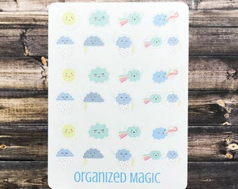 weather planner stickers, weather tracking stickers, weather stickers