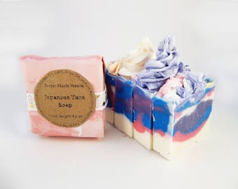 Yuzu, Citrus, Soap Frosting, Colorful Soap, Soap Gift, Handcrafted Soap, Artisan Soap, Moisturizing, Wedding Favors, Bridal Shower Favors