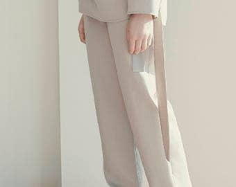 MAYRA LOUNGE TROUSERS/Ethical Loungewear/Relaxed home wear/Comfortable everyday trousers/Contemporary design/Casual pants