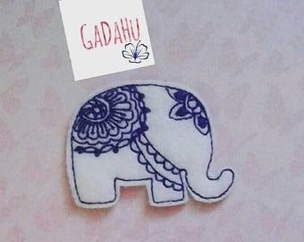 Mandala Elephant feltie. Embroidery Design 4x4 hoop Instant Download. Felties. Cute animal feltie