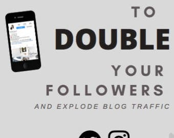 Powerful Strategies to Double Your Followers eBook
