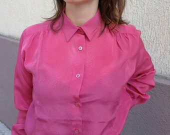 Bright pink blouse