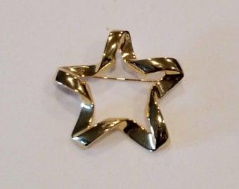 Pin, Brooch, Star,