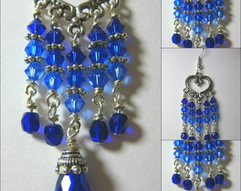 Ocean Blues Ombre Swarovski Earrings