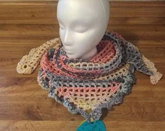 Vintage lace shawl scarf