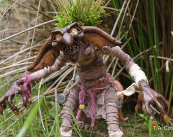 OOAK Fantasy art doll, Peat Bog Boggle