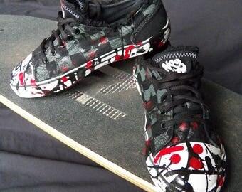 Skater Clothes Mens Custom Shoes - NSS Skater Shoes Splatter Paint