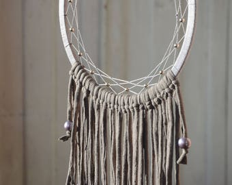 Boho dreamcatcher Gray dream catcher wall hanging Boho dream catcher Gray Boho wall hanging dreamcatcher wall hanging wall hanging Boho Gray