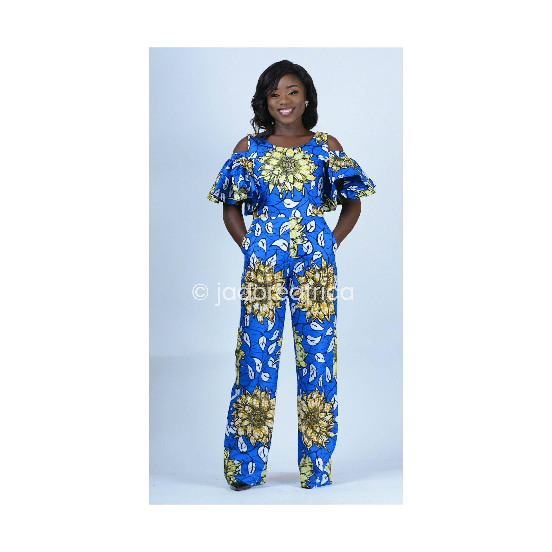 African Print Jumpsuit / Ankara Jumpsuit / Wide Leg Pants