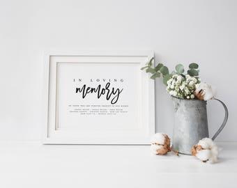 In Loving Memory Wedding Sign Template DIY Wedding Sign Template PDF Wedding Sign Wedding Memory Sign Wedding In honor of