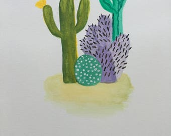 Cactus and pastel