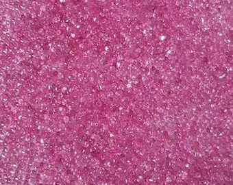 2.5 MM Round Natural Pink Sapphire Diamond Cut Faceted -Loose Sapphire Precious Gemstones