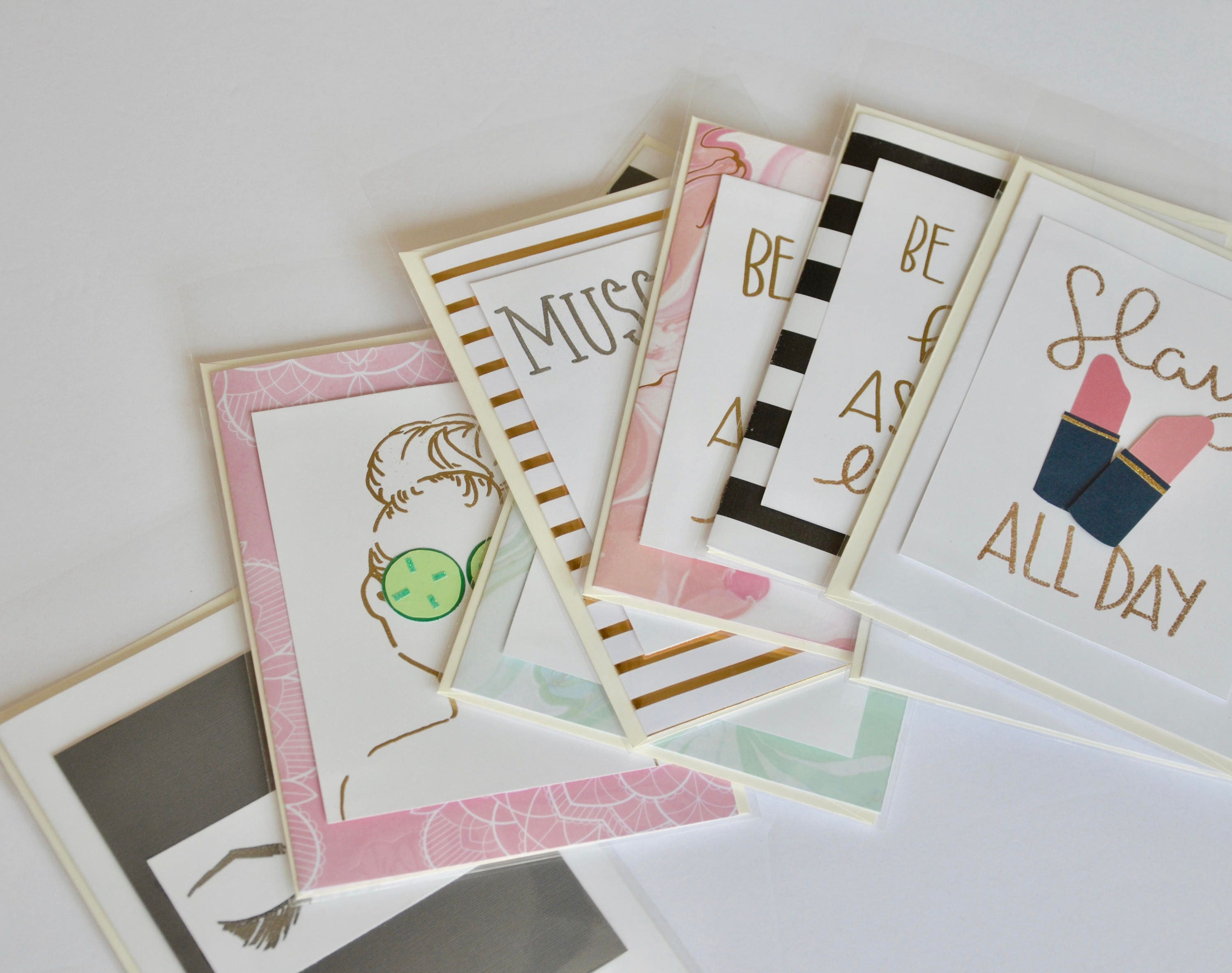 Wholesale Greeting Card Set Theme Inspired Bridal Party