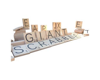 Giant Scrabble - Outdoor Word Game - Yard Tiles - Lifesize Word Tiles - Wedding Games - Tailgate Games - Party Games