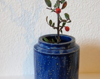 Dark blue vase/vessel