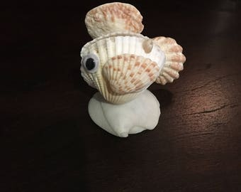 fish sea shell animal figurine (model 1) homemade