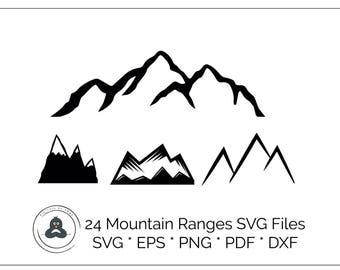 Mountain Svg, Mountain Dxf, Mountain Cut File, Mountain Eps, Mountain Vector, Mountain Cricut, Mountain Silhouette, Mountain Range Svg,