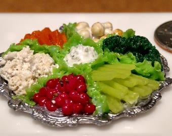 Miniature Veggie Platter 1:12 Scale Model Miniature food